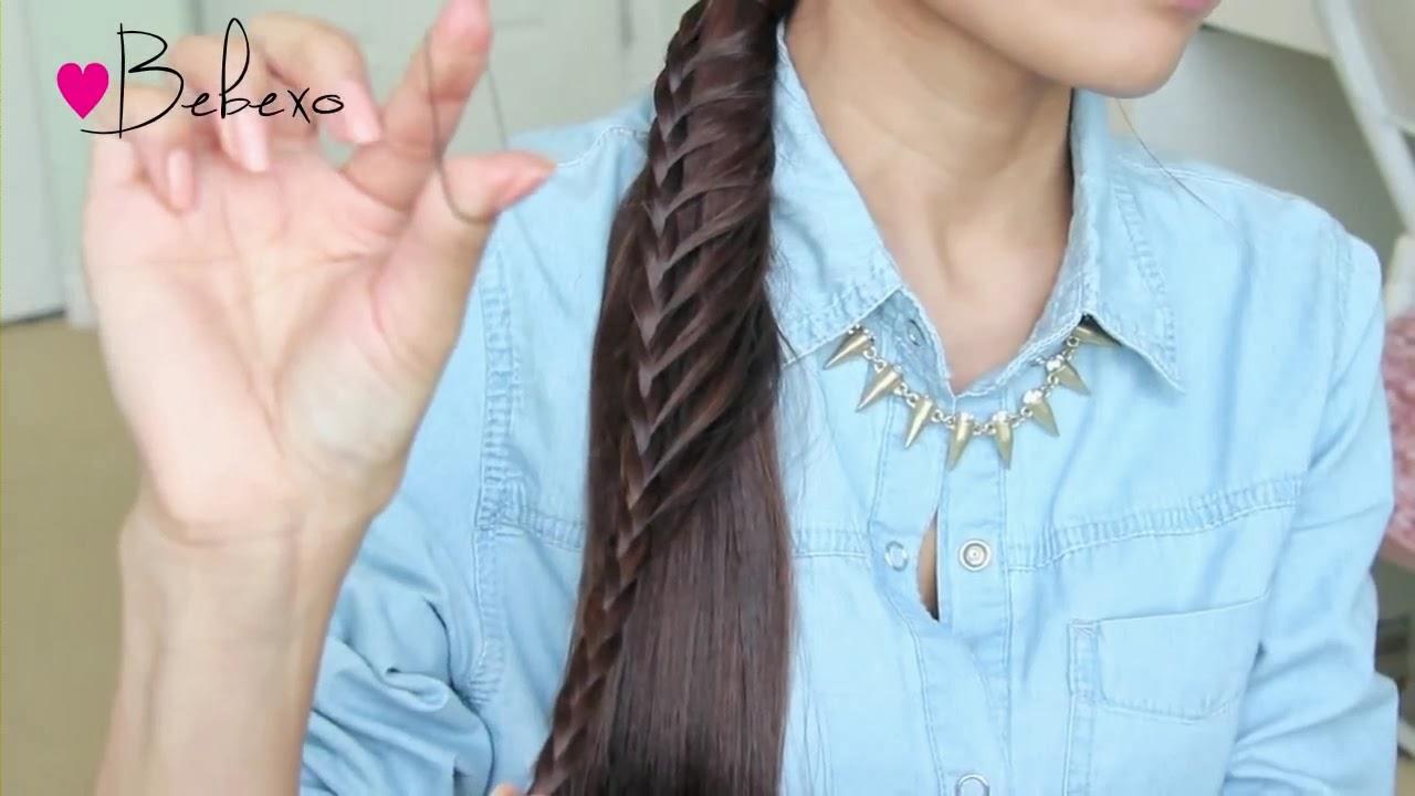 Cara Menata Rambut Panjang: Membuat Kepang Rambut Ekor ...